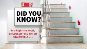Enclosed Fire-Rated Stairwells